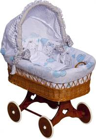 SC Prútený košík pre bábätko Gusto Farba: Modrá