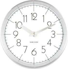 KARLSSON Nástenné hodiny Convex biele