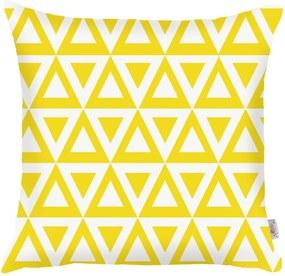 Žltá obliečka na vankúš Apolena Triangle, 43 × 43 cm