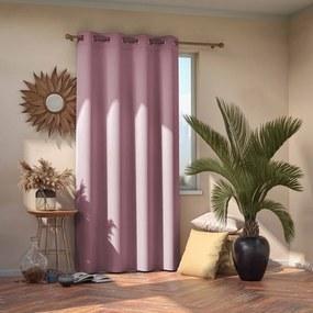Svetloružový zatemňovací záves AmeliaHome Eyelets Pink, 140 x 245 cm