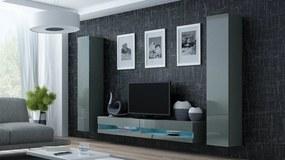 CAMA MEBLE Obývacia stena VIGO NEW 4 Farba: sivá