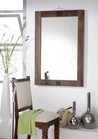 Bighome - OLDTIME Zrkadlo 100x88 cm, staré drevo