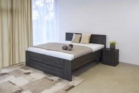 Ahorn LORANO - moderná lamino posteľ s deleným čelom 140 x 200 cm