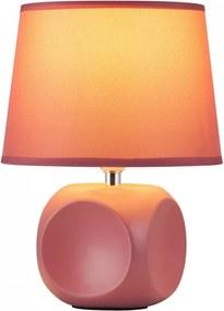 Rábalux Sienna 4394 Nočná stolová lampa ružové keramika 1 x E14 max. 40W IP20