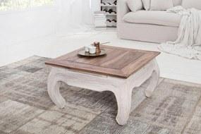 Konferenčný stolík Provence 60 cm / biela - mahagónová