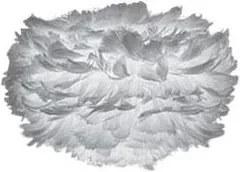 Svietidlo / luster závesný z husieho peria VITA Eos mini, šedá, šedá