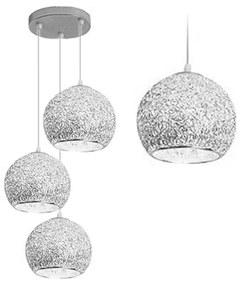 TooLight Stropní svítidlo Crystalball Triple stříbrné