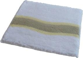 ROUTNER Kúpeľňová predložka LAVELLO Biela 10402 - Biela / 50 x 50 cm 10402