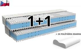 Penový matrac 90 x 200 cm 1+1 Elita
