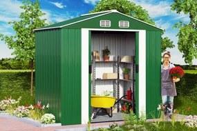 InternetovaZahrada - Záhradný domček Z1 - 210 x 132 x 186cm zelený
