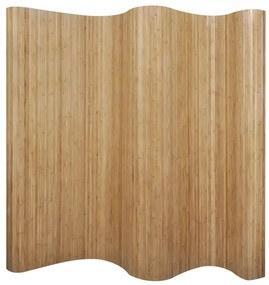Paraván z bambusu, prírodný, 250x195 cm
