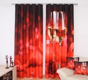Červený champagne záves 160x250 cm