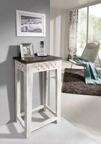 Bighome - ANTIK Príručný stolík 40x30 cm, mango a akácia
