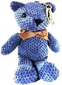 Kľúčenka - medvedík 25cm Fialová