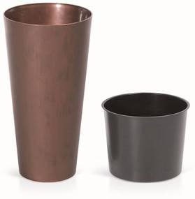 Prosperplast TUBUS SLIM Corten Kvetináč 30 cm, patinující oceľ DTUS300