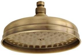 SAPHO SOF2006 Retro hlavová sprcha, kruh priemer 20cm, bronz