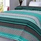 XPOSE® Prikrývka na posteľ ZINA- tyrkysová 220x240 cm