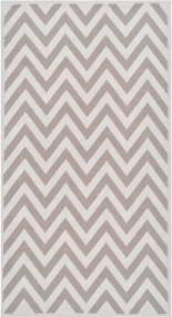 Odolný koberec Vitaus Zikzak Bej, 60 × 90 cm