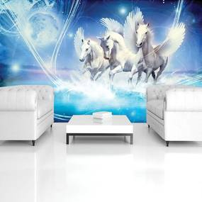 Fototapeta - Pegasus na modrom pozadí (254x184 cm), 10 ďalších rozmerov