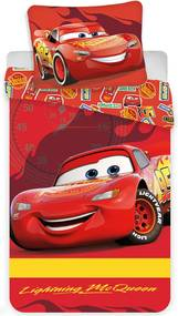 Obliečky do postieľky Cars - Blesk McQueen 04 100x135 40x60 cm 100% Bavlna Herding