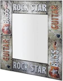 Sconto Zrkadlo ROCK sivá