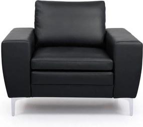 Čierne kožené kreslo Scandic Twigo