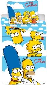 Jerry Fabrics Detské bavlnené obliečky Simpsons Family clouds, 140 x 200 cm, 70 x 90 cm