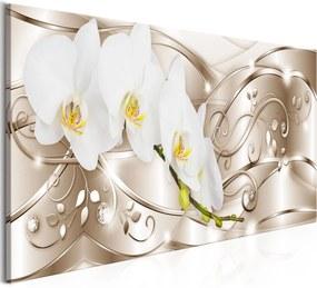 Obraz - Flowering (1 Part) Narrow Beige 150x50
