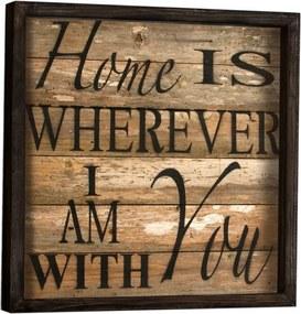 Nástenný obraz Sweet Home, 34 × 34 cm