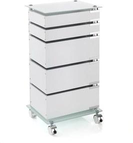 Biely pojazdný vozík s 5 zásuvkami Tomasucci Bobo