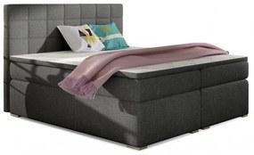 Hector Čalouněná kontinentální postel boxspring Alice 180x200 cm šedá