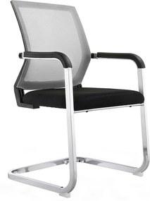 KONDELA Rimala kancelárska stolička sivá / čierna