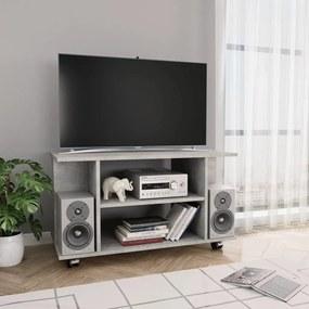 vidaXL TV skrinka s kolieskami betónovo-sivá 80x40x40 cm drevotrieska