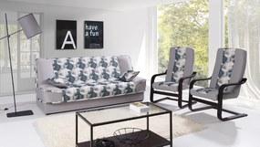 Rozkladacia sedacia súprava FLORA 3+1+1, bahama 31/print A4
