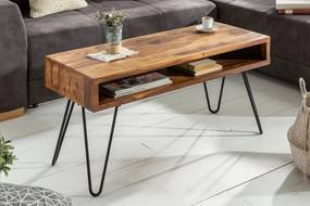 Bighome - Konferenčný stolík MATIS II. 100 cm - prírodná, palisander