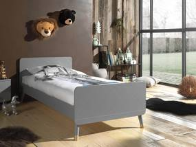 Sivá detská posteľ Billy