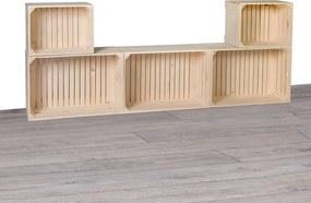 Drevobox Drevené debničky obývacia stena 180x69x24 cm