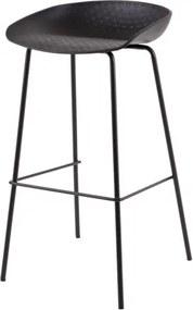 NETTASO 62 barová stolička Čierna