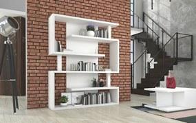 Biela policová knižnica Maze