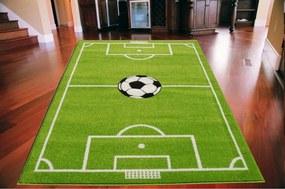 *Detský koberec Futbalové ihrisko TOP zelený, Velikosti 200x280cm