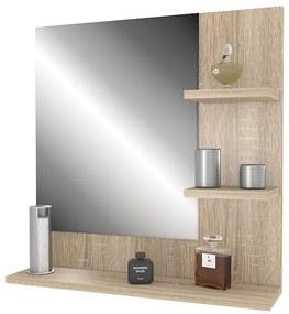 Zrkadlo na stenu dub sonoma Ariad - pravé