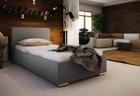 Jednolôžková čalúnená posteľ NASTY 5 + rošt + matrac, 90x200, Sofie 23