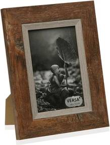 Drevený rámik na fotografiu Versa Madera Marron, 10 × 15 cm