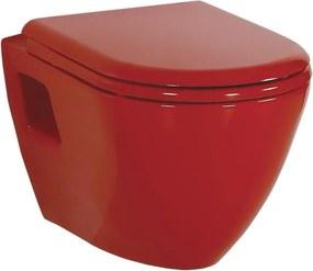 Paula TP325.70100 WC závesné 35,5x50cm, červené