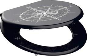 Wc sedátko Compass MDF sa spomaľovacím mechanizmom SOFT-CLOSE