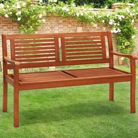 Jurhan Záhradná lavica FSC z eukalyptového dreva 120 cm x 60 cm x 90 cm hnedá