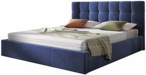 Hector Čalouněná postel Acoma 160x200 dvoulůžko - námořnická modř