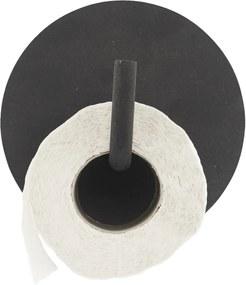 Čierny držiak na toaletný papier Text