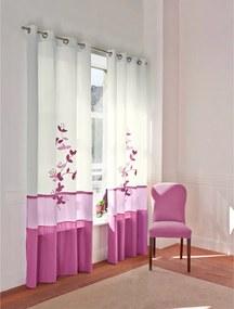 Voálový zaves Orchidea, fialová Barva: fialová, Velikost: 140x260cm