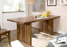 Bighome - ROUND Jedálenský stôl 197x100 cm, hnedá, palisander II.akosť